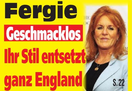 Fergie - Geschmacklos - Ihr Stil entsetzt ganz England