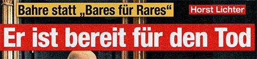 """Bahre statt """"Bahres für Rares"""" - Horst Lichter - Er ist bereit für den Tod"""