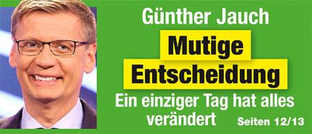 Günther Jauch - Mutige Entscheidung - Ein einziger Tag hat alles verändert