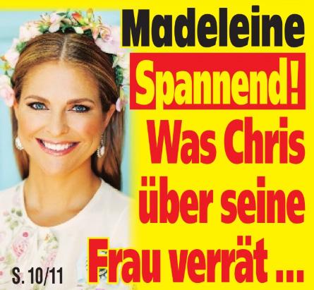 Madeleine - Spannend! - Was Chris über seine Frau verrät ...