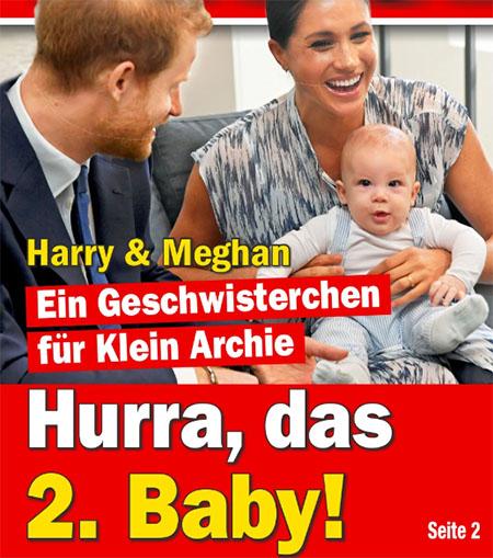 Harry & Meghan - Ein Geschwisterchen für Klein Archie - Hurra, das 2. Baby!