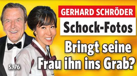 Gerhard Schröder - Schock-Fotos - Bringt seine Frau ihn ins Grab?