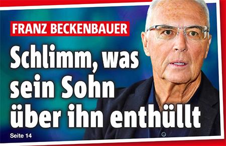 Franz Beckenbauer - Schlimm, was sein Sohn über ihn enthüllt