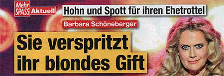 Hohn und Spott für ihren Ehetrottel - Barbara Schöneberger - Sie verspritzt ihr blondes Gift