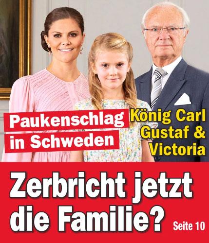 Paukenschlag in Schweden - König Carl Gustaf & Victoria - Zerbricht jetzt die Familie?