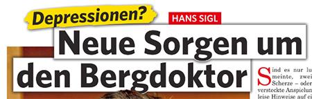 Depressionen? - Hans Sigl - Neue Sorgen um den Bergdoktor