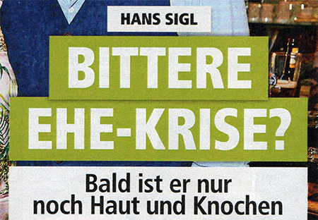 Hans Sigl - Bittere Ehe-Krise? - Bald ist er nur noch Haut und Knochen
