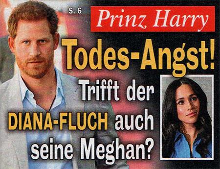 Prinz Harry - Todes-Angst! - Trifft der Diana-Fluch auch seine Meghan?