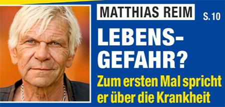 Matthias Reim - Lebensgefahr? - Zum ersten Mal spricht er über die Krankheit
