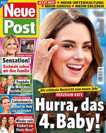 Die schönste Nachricht zum neuen Jahr - Herzogin Kate - Hurra, das 4. Baby!