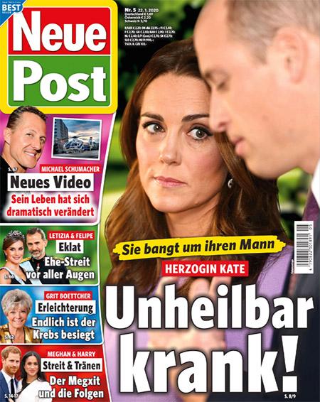 Sie bangt um ihren Mann - Herzogin Kate - Unheilbar krank!