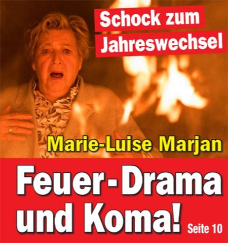 Schock zum Jahreswechsel - Marie-Luise Marjan - Feuer-Drama und Koma!