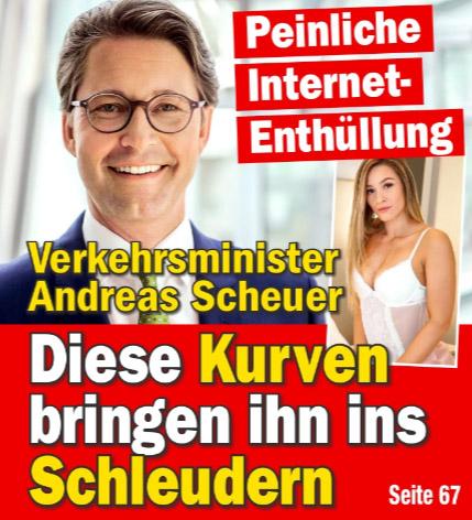 Peinliche Internet-Enthüllung - Verkehrsminister Andreas Scheuer - Diese Kurven bringen ihn ins Schleudern