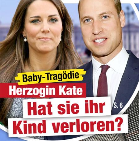 Baby-Tragödie - Herzogin Kate - Hat sie ihr Kind verloren?