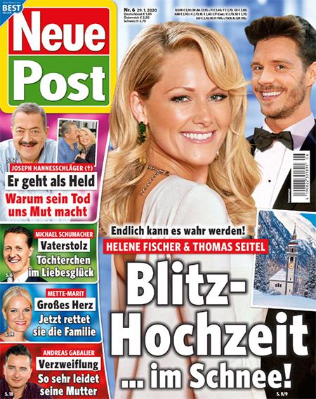Endlich kann es wahr werden - Helene Fischer & Thomas Seitel - Blitzhochzeit ... im Schnee!