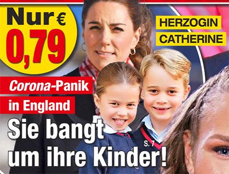 Corona-Panik in England - Herzogin Catherine - Sie bangt um ihre Kinder!