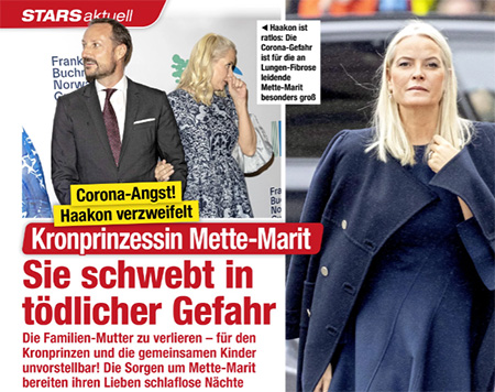 Corona-Angst! Haakon verzweifelt - Kronprinzessin Mette-Marit - Sie schwebt in tödlicher Gefahr - Die Familien-Mutter zu verlieren - für den Kronprinzen und die gemeinsamen Kinder unvorstellbar! Die Sorgen um Mette-Marit bereiten ihren Lieben schlaflose Nächte