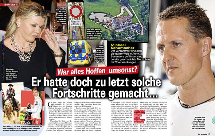 War alles Hoffen doch umsonst? - Michael Schumacher - Er hatte doch zuletzt solche Fortschritte gemacht ...