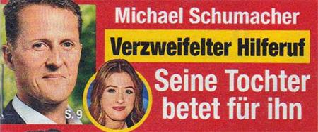 Michael Schumacher - Verzweifelter Hilferuf - Seine Tochter betet für ihn