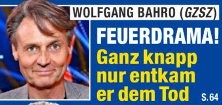 Wolfgang Bahro (GZSZ) - FEUERDRAMA! - Ganz knapp nur entkam er dem Tod