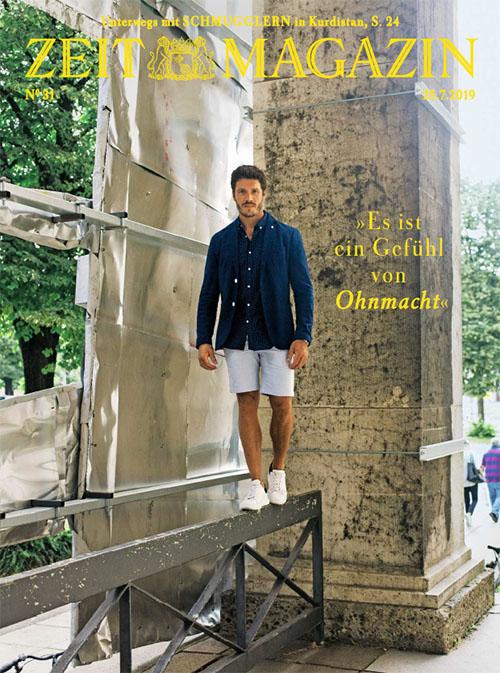 """Titelseite des """"Zeit Magazins"""", darauf ein Foto von Thomas Seitel und dem Zitat """"Es ist ein Gefühl von Ohnmacht"""""""