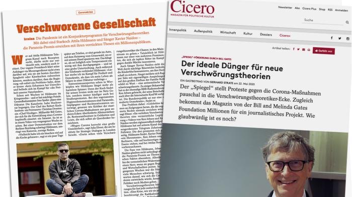 """""""Cicero"""" düngt Verschwörungstheorie über Bill Gates und den """"Spiegel""""   Übermedien"""