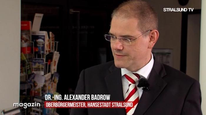 Gut vorbereitet: der Stralsunder Oberbürgermeister
