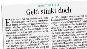 """""""Bild"""" und RTL - Geld stinkt doch"""