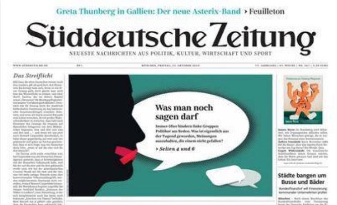 Süddeutsche Zeitung: Was man noch sagen darf