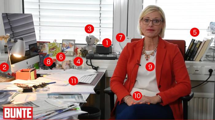 """Tanja Mays Schreibtisch bei """"Bunte"""""""