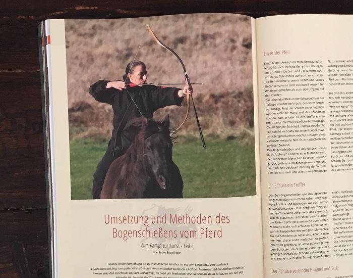 """Seite aus der Zeitschrift """"Traditionell Bogenschießen"""""""