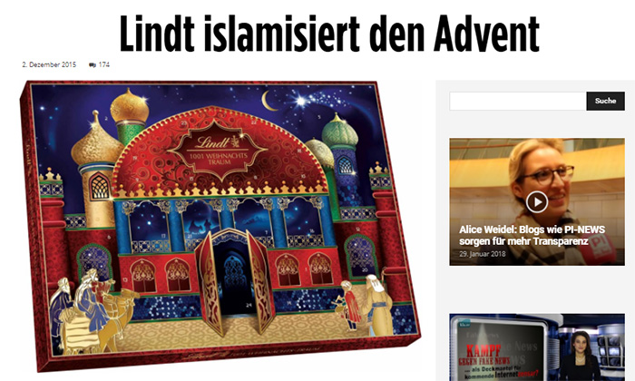 """Lindt islamisiert den Advent"""
