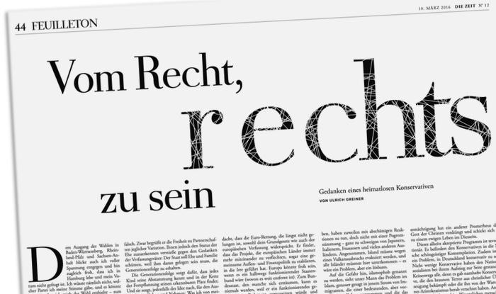 Ulrich Greiner: Vom Recht, rechts zu sein