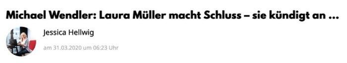 Michael Wendler: Laura Müller macht Schluss - sie kündigt an ...