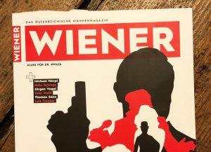"""Cover mit Schattenrissen u.a. von James Bind mit Waffe, Schlagzeile: """"Idole und Ikonen"""""""