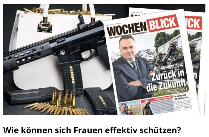 Super-Symbolfoto: Tasche und Waffe