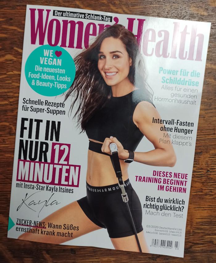 Das Cover von Women's Health, Ausgabe 03-2020