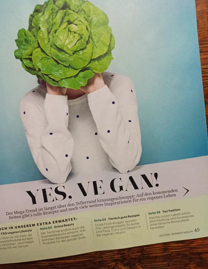 Yes ve gan in Women's Health, Ausgabe 03-2020