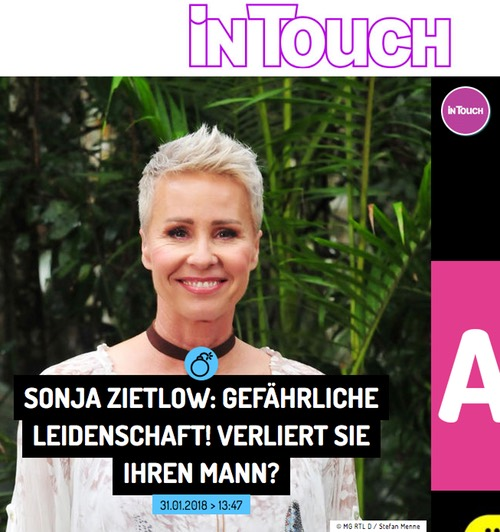 Sonja Zietlow: Gefährliche Leidenschaft! Verliert sie ihren Mann?